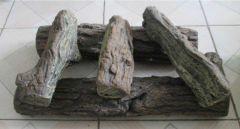 Dekorative Beton Zierstämme, 5 Stück weiße Birke