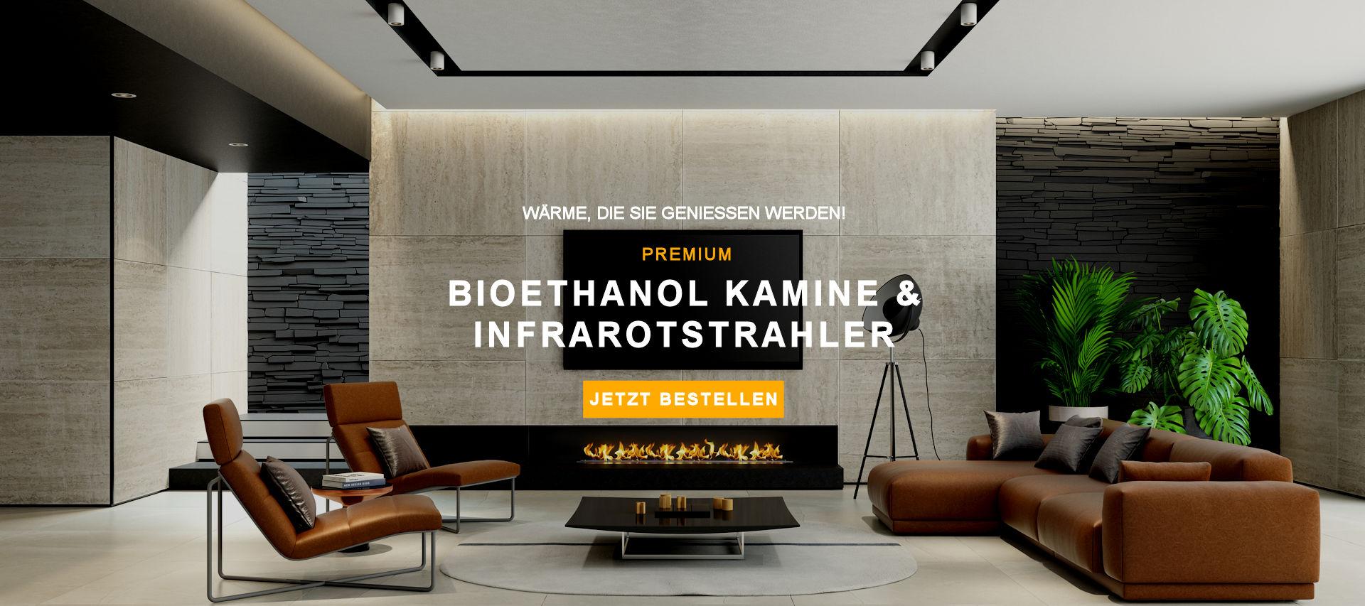 Premium Bioethanol Kamine & Infrarotstrahler